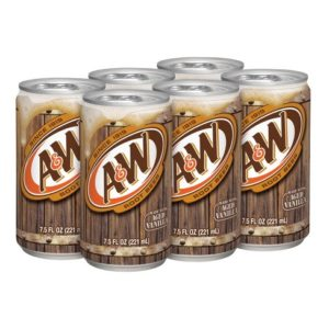 A & W - Root Beer 7.5oz Mini Can Case
