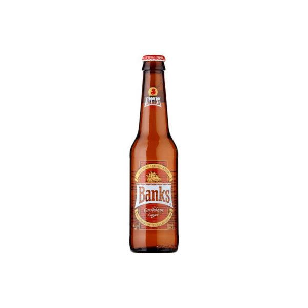 Banks - Caribbean Lager 330ml (11.2oz) Bottle 24pk Case