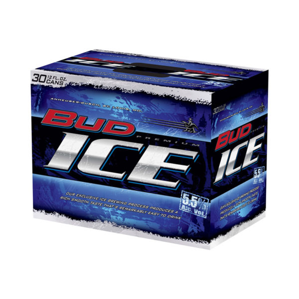 Budweiser - Bud Ice 12oz Can 24pk Case