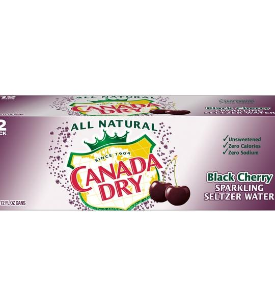 Canada Dry - Black Cherry 12oz Can Case - 24 Pack