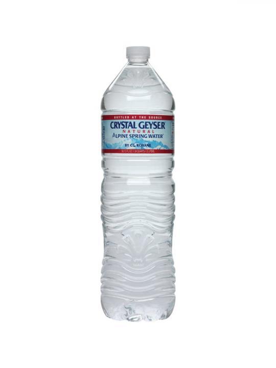 Crystal Geyser - 1.5 Liter (50.7oz) Bottle Case - 12 Pack
