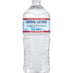 Crystal Geyser - 1 Liter (33.8oz) Bottle Case - 15 Pack