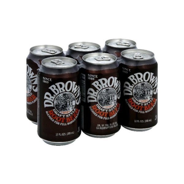 Dr. Brown's - Root Beer 12 oz Can 24pk Case