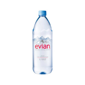 EVIAN – 1 LITER (33.8OZ) PLASTIC BOTTLE CASE