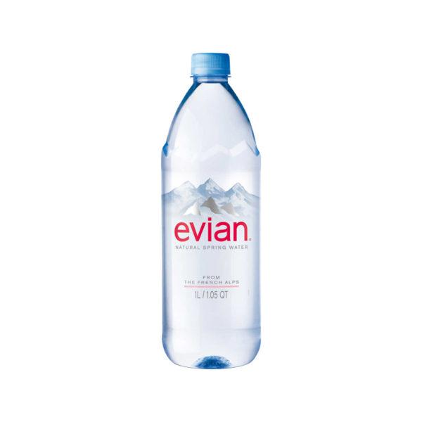 EVIAN – 1 LITER (33.8OZ) PLASTIC BOTTLE CASE