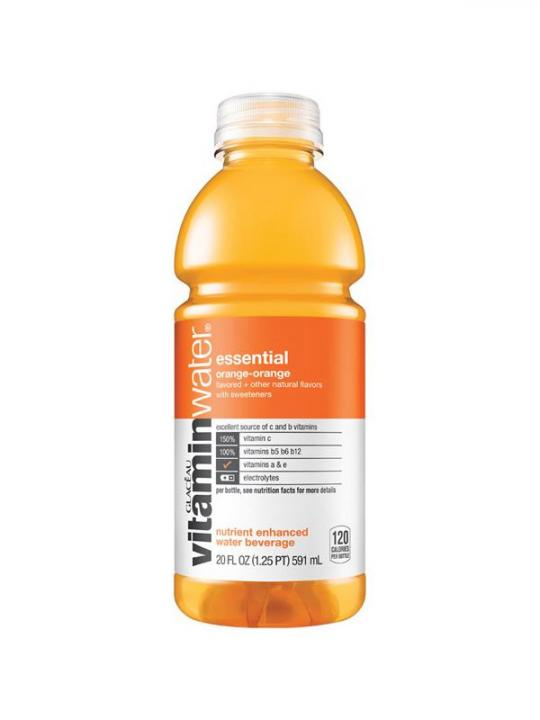 Glaceau - Vitamin Water Orange/Orange (Essential) 20oz Bottle Case - 12 Pack