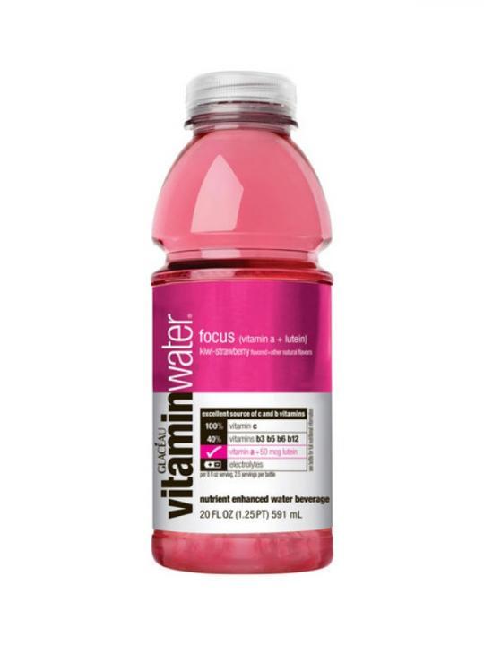Glaceau - Vitamin Water Kiwi/Strawberry (Focus) 20oz Bottle Case - 12 Pack