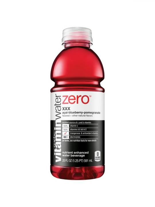 """Glaceau - Vitamin """"0"""" XXX (Acai/Blueberry/Pom) 20oz Bottle Case - 12 Pack"""