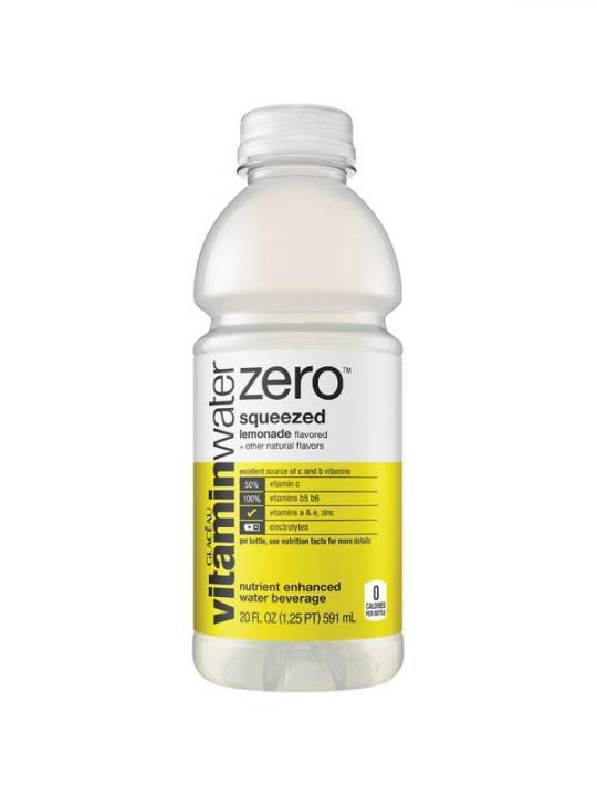 """Glaceau - Vitamin """"0"""" Squeezed (Lemonade) 20oz Bottle Case - 12 Pack"""