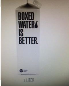 Boxed Water Is Better -1 Liter (33.8oz) Paper Box Case - 12 Pack