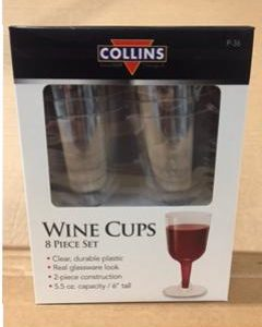 Cups - Wine Cups-5oz Plastic (8 Pack)