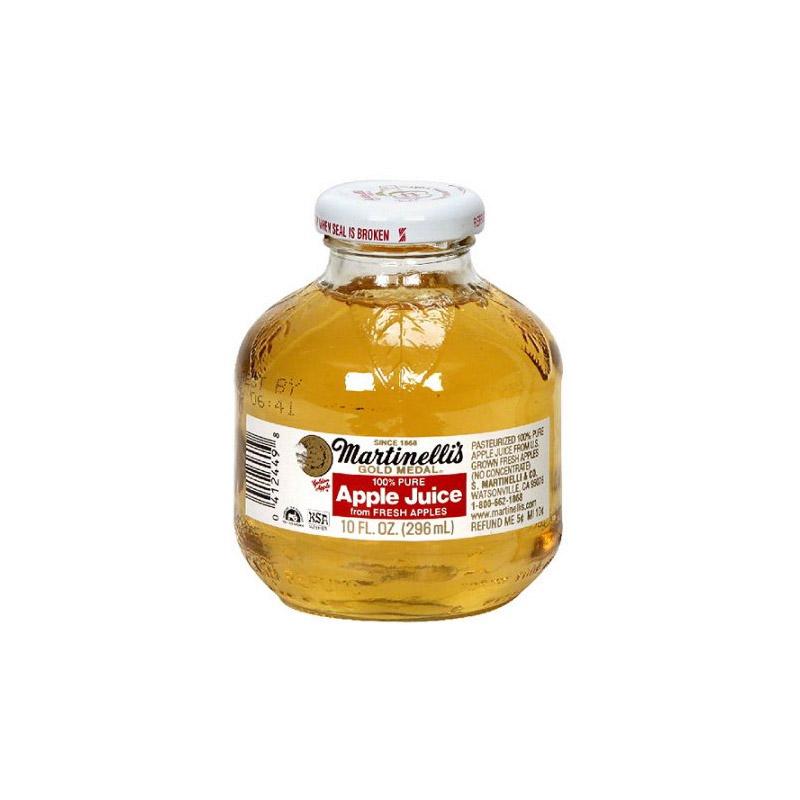 Martinelli S Apple Juice 10 Oz Glass Bottle 24pk Case New York Beverage