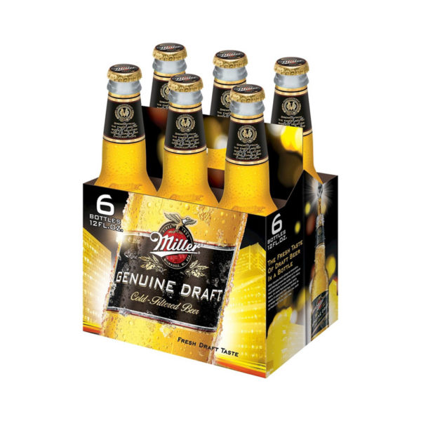 Miller - Genuine Draft 12oz Bottle 24pk Case