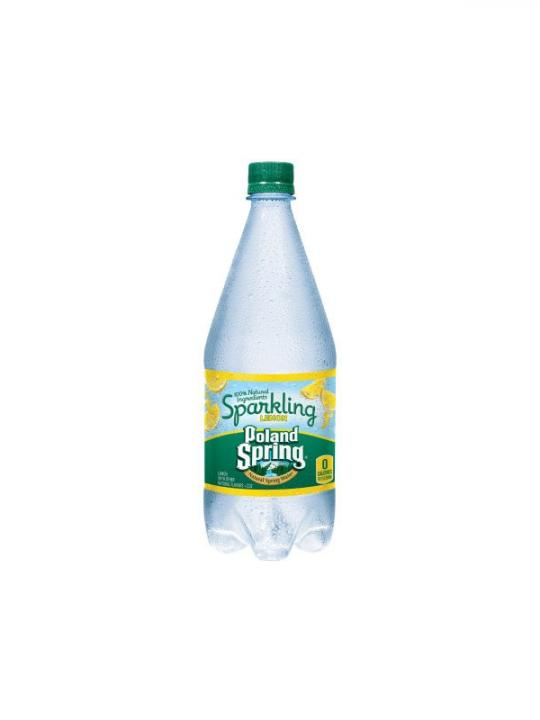 Poland Spring - Sparkling Lemon 33oz Plastic Bottle Case - 12 Pack