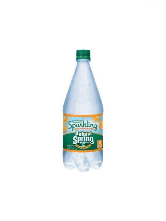 Poland Spring - Sparkling Orange 33oz Plastic Bottle Case - 12 Pack