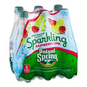 Poland Spring - Sparkling Raspberry/Lime 16.9oz Bottle Case - 24 Pack