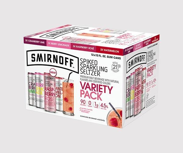 Smirnoff - Spiked Sparkling Seltzer Variety 12oz Can Case