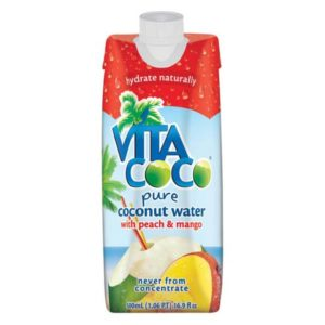 Vita Coco - Peach Mango Coconut Water 500ml (16.9oz) Box Case - 12 Pack