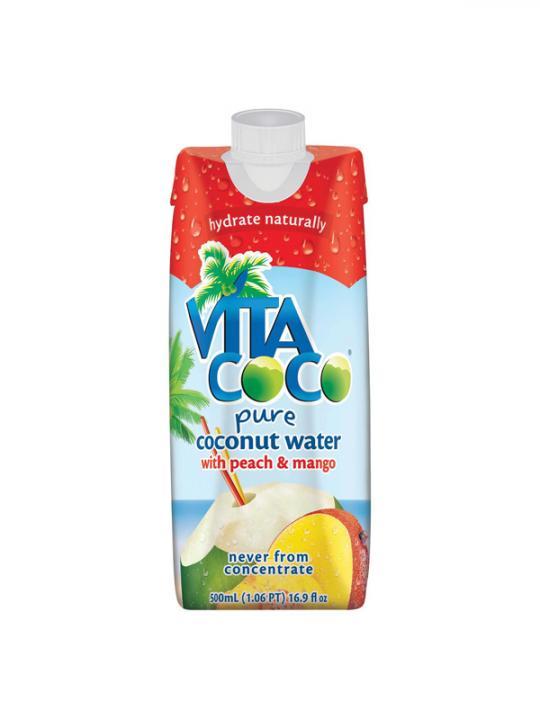 Vita Coco - Peach Mango Coconut Water 500ml (16.9oz) Box Case - 12 Pack