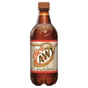 A&W - Diet Root Beer 20oz Bottle Case