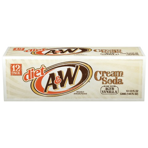 A&W - Diet Cream 12oz Can Case