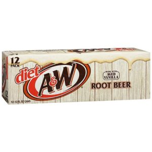 A&W - Diet Root Beer 12oz Can Case