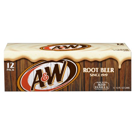 A&W - Root Beer 12oz Can Case