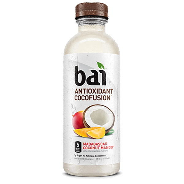 Bai 5 - Madagascar Coconut Mango 18oz Bottle Case