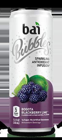 Bai Bubbles - Bogota Blackberry Lime 11.5oz Can Case - 12 Pack
