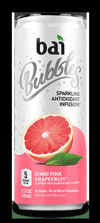 Bai Bubbles - Gimbi Pink Grapefruit 11.5oz Can Case - 12 Pack