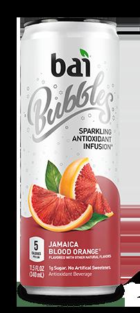 Bai Bubbles - Jamaica Blood Orange 11.5oz Can Case - 12 Pack