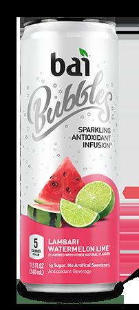 Bai Bubbles - Lambari Watermelon Lime 11.5oz Can Case - 12 Pack