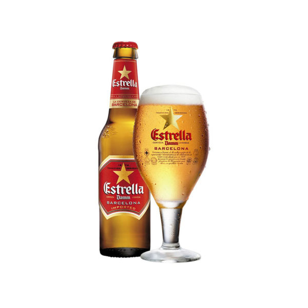 Estrella Damm - Lager 330ml (11.2oz) Bottle 24pk Case
