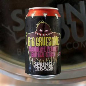 Spring House - Big Gruesome Chocolate Peanut Butter Stout 12oz Can 24pk Case