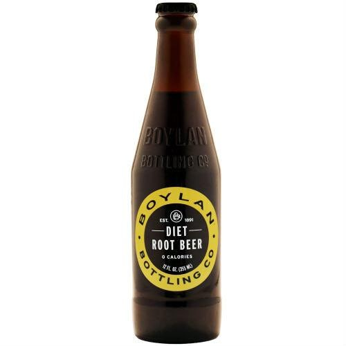 Boylan - Diet Root Beer 12oz Bottle Case