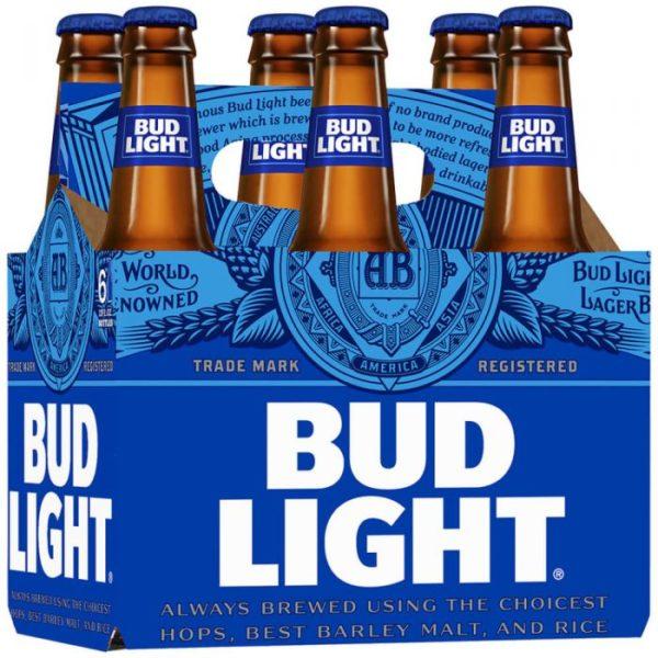 Budweiser - Bud Light 12oz Bottle 24pk Case