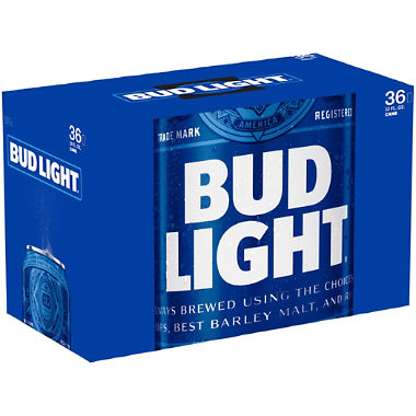 Budweiser - Bud Light 12oz Can 24pk Case