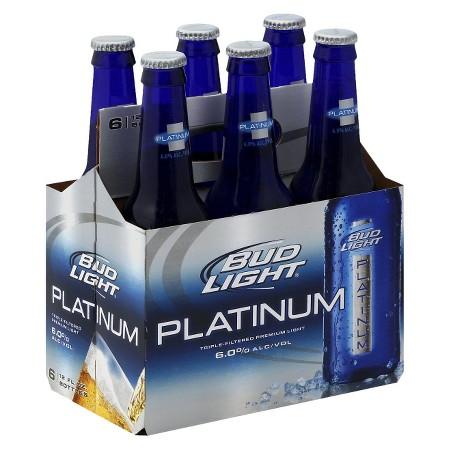 Budweiser - Bud Light Platinum 12oz Bottle 24pk Case