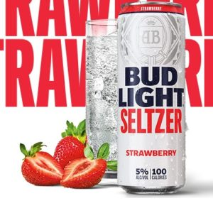 Bud Light - Seltzer Strawberry 12oz Can Case
