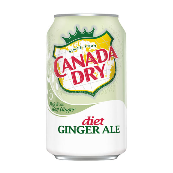 Canada Dry - Diet Ginger Ale 12oz Can Case