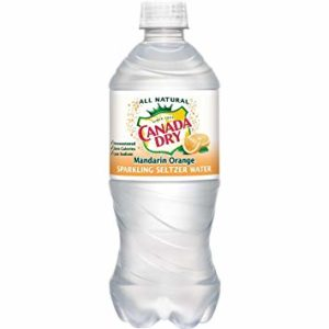 Canada Dry - Mandarin Orange Seltzer 20oz Bottle Case - 24 Pack