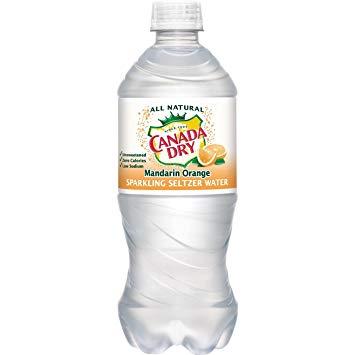Canada Dry - Mandarin Orange Seltzer 20oz Bottle Case - 24 Pack