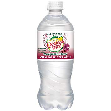 Canada Dry - Pomegranate Cherry Seltzer 20oz Bottle Case - 24 Pack