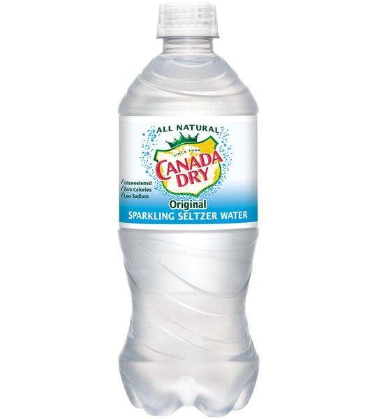 Canada Dry - Seltzer 20oz Bottle Case - 24 Pack