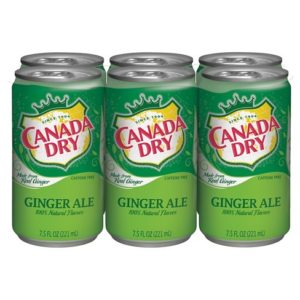 Canada Dry - Ginger Ale 7.5oz Mini Can Case