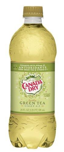 Canada Dry - Green Tea Ginger Ale 20oz Bottle Case