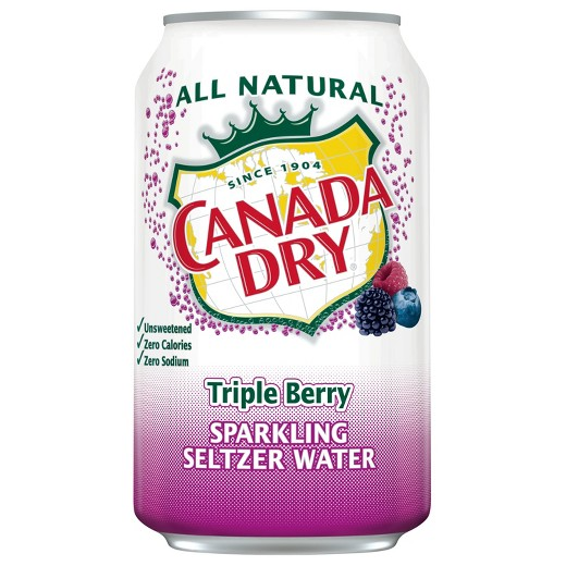 Canada Dry - Triple Berry Seltzer 12oz Can Case - 24 Pack