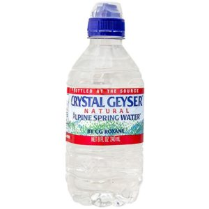 Crystal Geyser - 8oz Sport Cap Bottle Case - 32 Pack