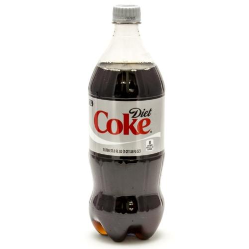 Diet Coke - 1 Liter (33.8oz) Bottle Case