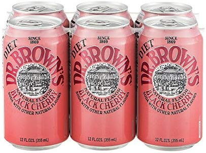 Dr. Brown's - Diet Black Cherry 12oz Can Case